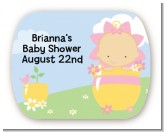 Blooming Baby Girl Asian - Personalized Baby Shower Rounded Corner Stickers