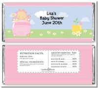 Blooming Baby Girl Caucasian - Personalized Baby Shower Candy Bar Wrappers