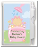Blooming Baby Girl Caucasian - Baby Shower Personalized Notebook Favor