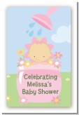 Blooming Baby Girl Caucasian - Custom Large Rectangle Baby Shower Sticker/Labels