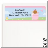 Blooming Baby Girl African American - Baby Shower Return Address Labels