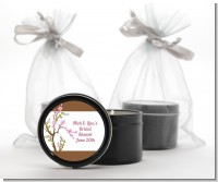 Blossom - Bridal Shower Black Candle Tin Favors