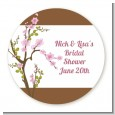 Blossom - Round Personalized Bridal Shower Sticker Labels thumbnail