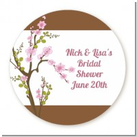 Blossom - Round Personalized Bridal Shower Sticker Labels