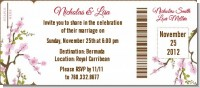 Blossom - Bridal Shower Destination Boarding Pass Invitations