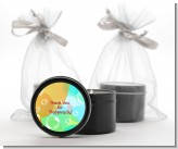 Blowing Bubbles - Birthday Party Black Candle Tin Favors