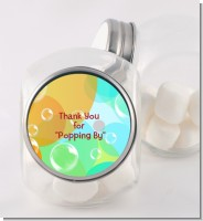 Blowing Bubbles - Personalized Birthday Party Candy Jar