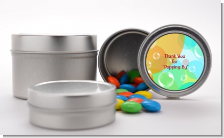 Blowing Bubbles - Custom Birthday Party Favor Tins