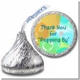Blowing Bubbles - Hershey Kiss Birthday Party Sticker Labels