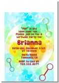 Blowing Bubbles - Birthday Party Petite Invitations