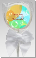 Blowing Bubbles - Personalized Birthday Party Lollipop Favors