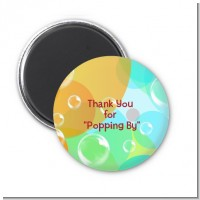 Blowing Bubbles - Personalized Birthday Party Magnet Favors