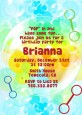 Blowing Bubbles - Birthday Party Invitations thumbnail