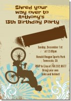 BMX Rider - Birthday Party Invitations