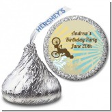 BMX Rider - Hershey Kiss Birthday Party Sticker Labels