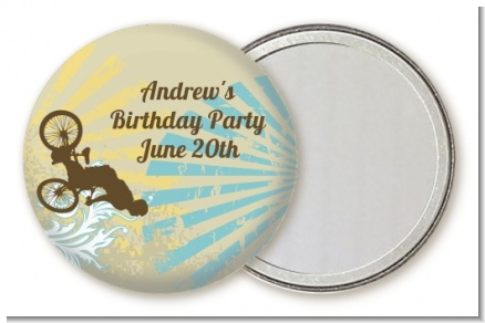 BMX Rider - Personalized Birthday Party Pocket Mirror Favors