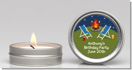 Bonfire - Birthday Party Candle Favors