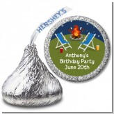 Bonfire - Hershey Kiss Birthday Party Sticker Labels
