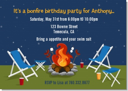 Bonfire - Birthday Party Invitations