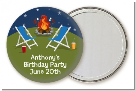 Bonfire - Personalized Birthday Party Pocket Mirror Favors