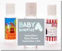 Booties Blue - Personalized Baby Shower Hand Sanitizers Favors
