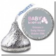 Booties Pink - Hershey Kiss Baby Shower Sticker Labels thumbnail
