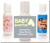 Booties Yellow - Personalized Baby Shower Lotion Favors