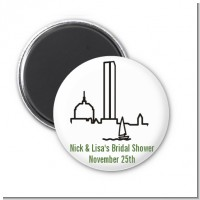 Boston Skyline - Personalized Bridal Shower Magnet Favors