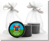 Bounce House - Birthday Party Black Candle Tin Favors
