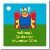 Bounce House - Personalized Birthday Party Card Stock Favor Tags