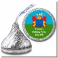 Bounce House - Hershey Kiss Birthday Party Sticker Labels thumbnail