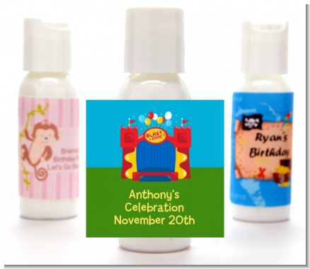 Bounce House - Personalized Birthday Party Lotion Favors