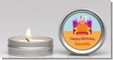 Bounce House Purple and Orange - Birthday Party Candle Favors