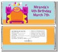Bounce House Purple and Orange - Personalized Birthday Party Candy Bar Wrappers thumbnail