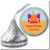 Bounce House Purple and Orange - Hershey Kiss Birthday Party Sticker Labels