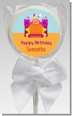 Bounce House Purple and Orange - Personalized Birthday Party Lollipop Favors