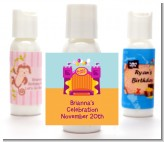 Bounce House Purple and Orange - Personalized Birthday Party Lotion Favors