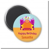Bounce House Purple and Orange - Personalized Birthday Party Magnet Favors