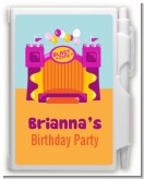 Bounce House Purple and Orange - Birthday Party Personalized Notebook Favor