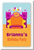 Bounce House Purple and Orange - Custom Large Rectangle Birthday Party Sticker/Labels