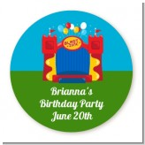 Bounce House - Round Personalized Birthday Party Sticker Labels