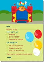 Bounce House - Birthday Party Fill In Thank You Cards