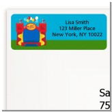 Bounce House - Birthday Party Return Address Labels