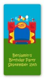 Bounce House - Custom Rectangle Birthday Party Sticker/Labels