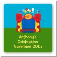 Bounce House - Square Personalized Birthday Party Sticker Labels thumbnail