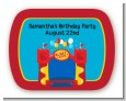 Bounce House - Personalized Birthday Party Rounded Corner Stickers thumbnail