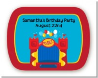 Bounce House - Personalized Birthday Party Rounded Corner Stickers