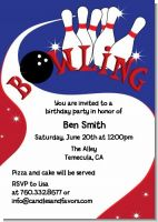 Bowling Boy - Birthday Party Invitations