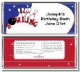 Bowling Boy - Personalized Birthday Party Candy Bar Wrappers thumbnail