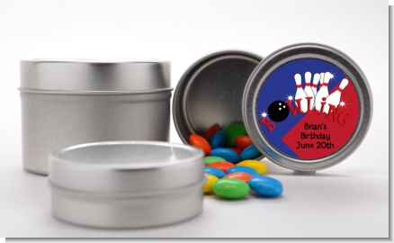 Bowling Boy - Custom Birthday Party Favor Tins